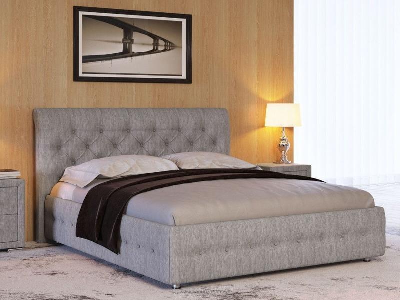 Кровать с высоким изголовьем и подъемным механизмом